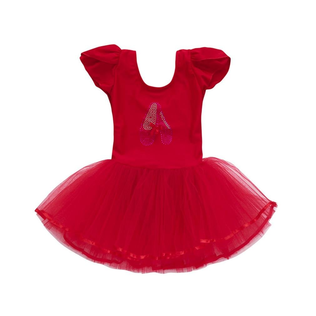 GIFC Girls Ballet Dress Cute Tutu Leotard Flutter Ballerina Dance Costumes for Little Girls