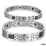 Alimab Germanium Carbide Tungsten Bracelet Health magnetic bracelet Couple bracelet couples