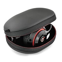 Tzou Matte Zipper Earphones Carrying Case for Beats Monster by Dr.Dre Studio, Solo Wireless, Solo, Solo HD Over-ear Headphone Replacement Case Pouch Bag Box