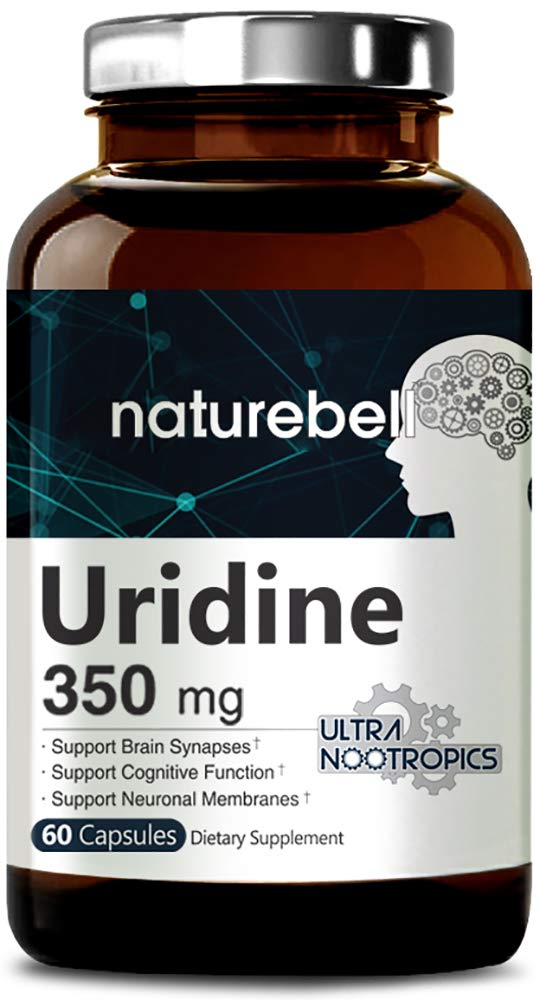 NatureBell Uridine Monophosphate, Choline Enhancer, 350mg, 60 Capsules, Nootropics for Energy, Brain Health and Memory Support, No GMOs and Made in USA by Micro Ingredients