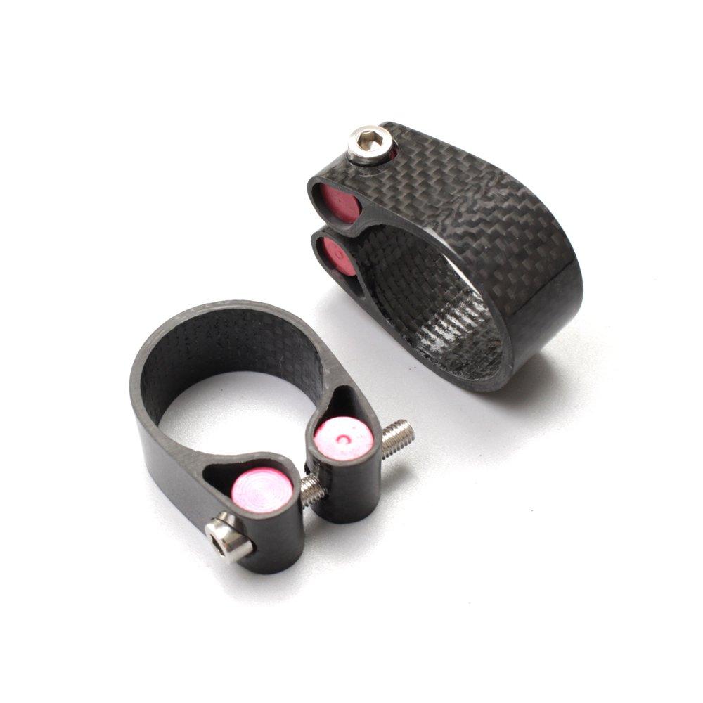 EC90 Carbon Fiber Bike Seat Post Clamp Lock Seat Tube Clip 31.6 30.8 27.2 MTB/Road Bike Parts (27.2MM)