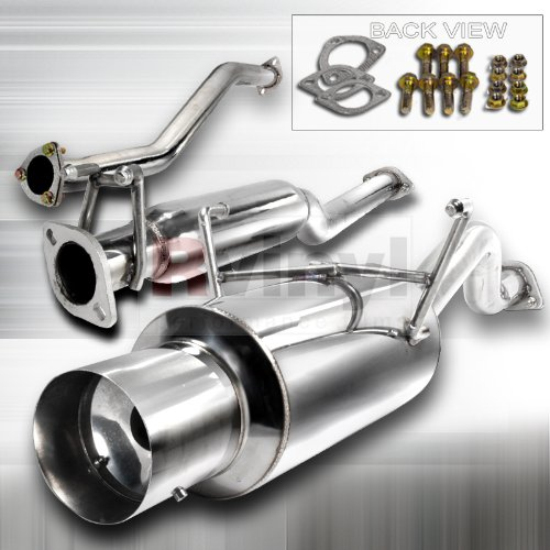 Spec-D Tuning MFCAT2-CV01 Honda Civic 2 4 Dr Ex Model Catback Exhaust System 02 03 04 (04 N1 Cat Back Exhaust)