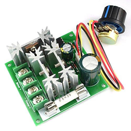DZS Elec 15A 6V-90V DC Motor Speed Controller 6V 12V 24V 36V 48V 72V 90V Large Power PWM Regulator Governor -