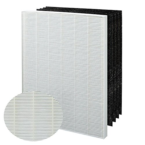 True HEPA Plus 4 Replacement Filter for Winix 115115 PlasmaWave Air Purifier 5300 6300 5300-2 6300-2 P300 C535 & Fellowes Aeramax 290 300/DX95 and Fellowes AP-300PH Air Purifier by Laukowind