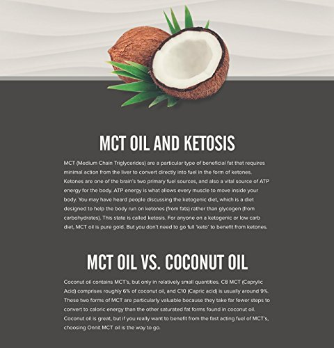 Onnit MCT Oil - Pure MCT Coconut Oil, Ketogenic Diet and Paleo Optimized with C8, C10, Lauric ...