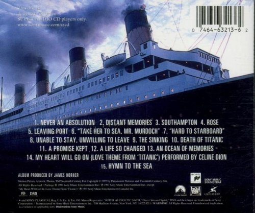 James Horner, Celine Dion - Titanic: Music from the Motion Picture ...