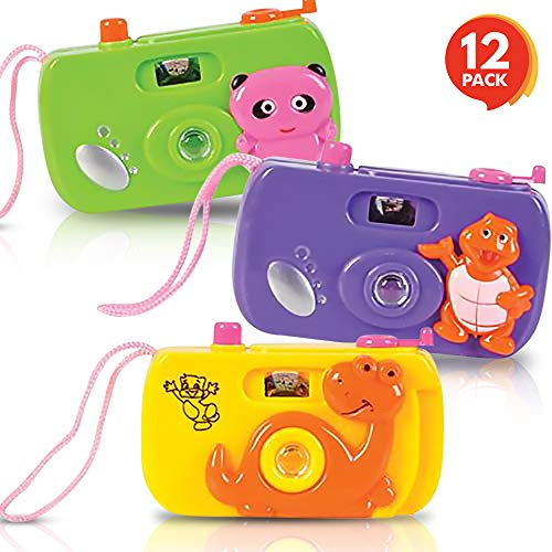 ArtCreativity Kids' Camera Toy Set (Pack of 12) | Children's Pretend Play Prop with Images in Viewfinder | Birthday Party Favors/ Goodie Bag Fillers Idea for Boys, Girls, -