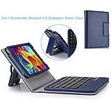 MoKo Wireless Bluetooth Keyboard Cover Case for Samsung GALAXY Tab 4 7.0 inch 2014, Indigo (WILL NOT Fit Samsung Galaxy Tab 3 7.0)