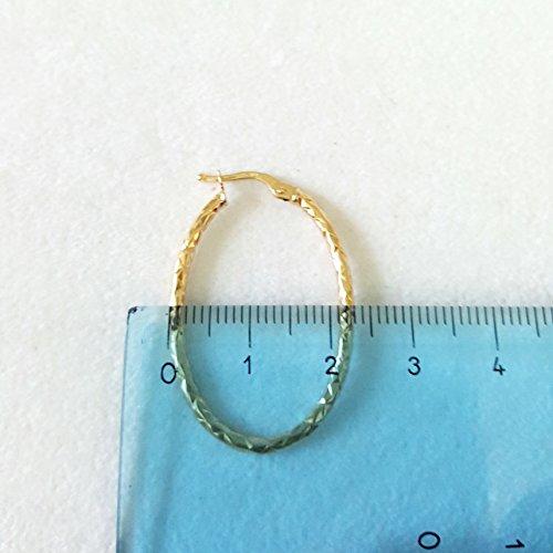 Boucles d'oreilles cercles douilles tubulaires en jaune or 18KT-750gr. 1,70-18K Gold Earring