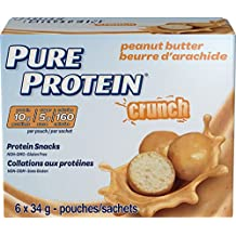 Pure Protein Crunch Protein Snacks Peanut Butter Value Pack, 6 Count