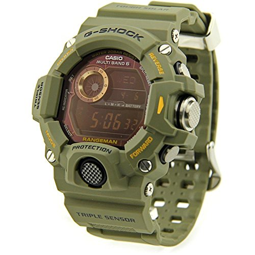 G-Shock Rangeman Master Of G Series Stylish Watch - Green / One Size by Casio