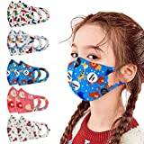 Children's 4Pcs Solid Face Bandanas with Breathing