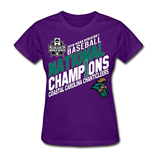 Price comparison product image Guiwan Women's Coastal Carolina Chanticleers Basrball World Series Champions T-shirt
