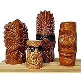 BarConic Tiki Mugs Drinkware Package 1 - Set of 4