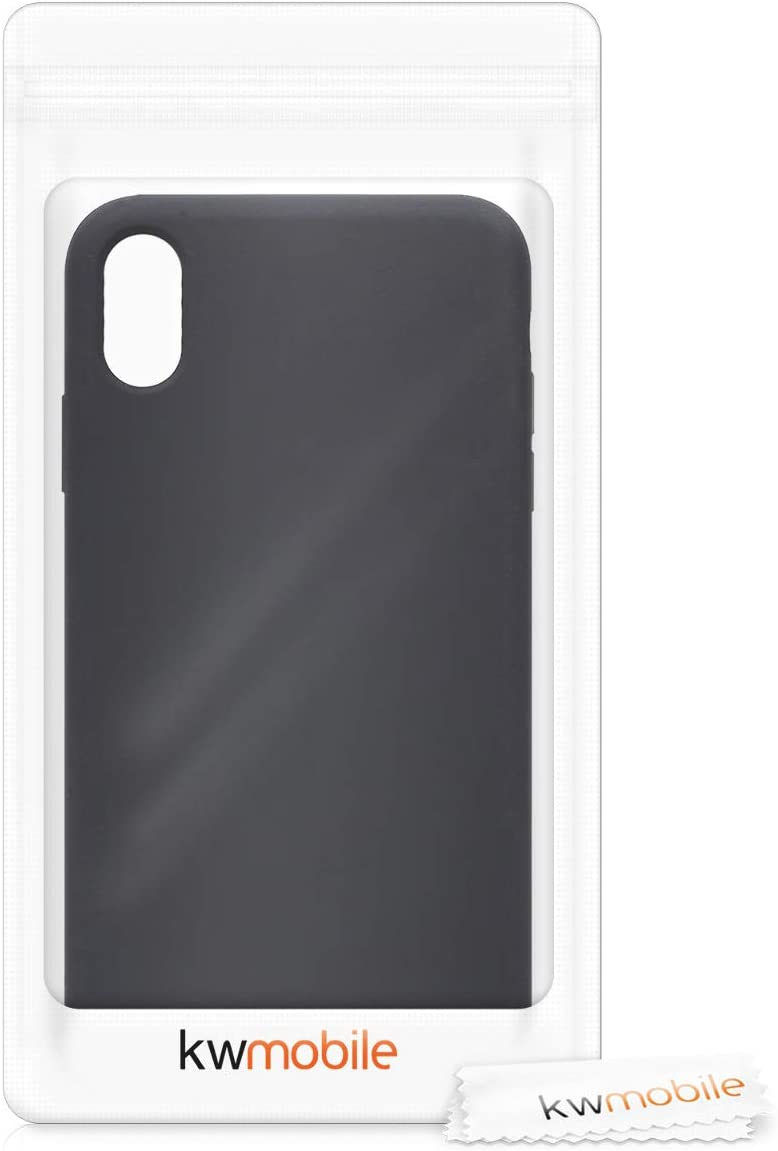 Carcasa de TPU para m/óvil Cover Trasero en Gris Metalizado kwmobile Funda Compatible con Apple iPhone XS MAX