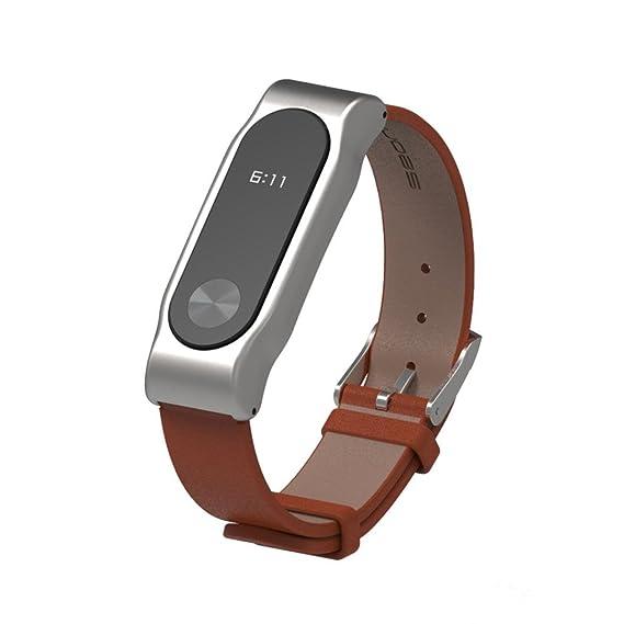 Amazon.com: Xiaomi Mi Band 2 Bands,liu nian Mijoas Leather ...
