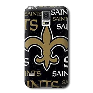 Allan Diy S5 case cover, NFL - New Orleans Saints Black Blast - Samsung Galaxy S5 case cover - High Quality PC case cover 2w5X7AYROxE