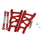 Mxfans RC Red Aluminum Alloy SLA007 SLA013 Front/Rear Suspension Arms and Servo Link Upgrade Parts for TRAXXAS SLASH 4X4 & HQ 727 Short Truck Pack of 2