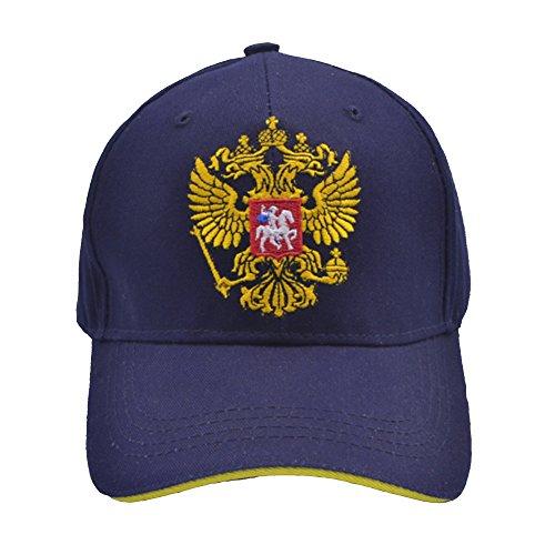 Russian National Emblem Men's Embroidery Baseball Cap Flat Brim Snapback Hats for Womens