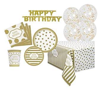 Unique Party Kit de Artículos de Fiesta para 8: Cumpleaños ...