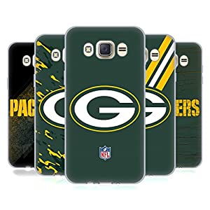 Official NFL Green Bay Packers Logo Soft Gel Case for Samsung Galaxy J7 (2016) from Head Case Designs