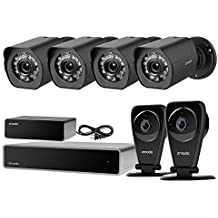 Zmodo Full HD 1080p Security Camera System w/Repeater, 4 x 1080p IP Outdoor Surveillance Camera, 2 x 1080p Audio Wide Angle WiFi EZCam Pro, 8CH HDMI NVR 1TB Hard Drive - Cloud Storage Available