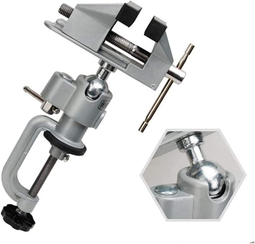 XINGJIJIJIA Handheld Mini Vise Tool Aluminum Small Jewelers Hobby Clamp On Table Bench Vice Lathe portable (Color : Silver) Silver