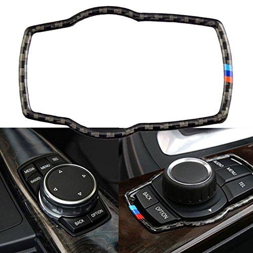 Xotic Tech M Colored Real Carbon Fiber Multi-Media Controller Knob Sticker Interior Trim for BMW 3 4 Series M3 M4