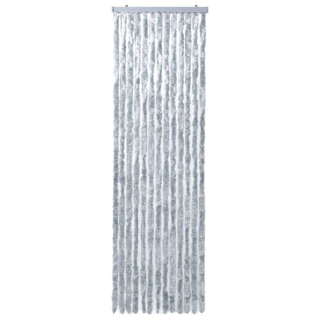 Tidyrad Mosquitera para Puertas Cortina mosquitera Chenilla marr/ón y Beige 90x220 cm