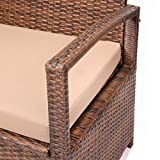 Barton Outdoor Deck Box Bench Storage with Backrest