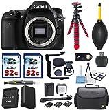 Canon EOS 80D 24.2MP Digital SLR Camera Body Bundle Accessories (13- Items)