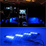 Docooler 12V 12 LED Car Auto Interior Atmosphere Lights Decoration Lamp - Blue