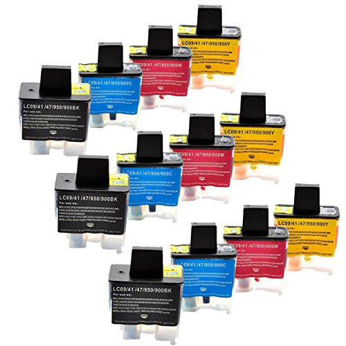 Inkjet 1840c (INKMATE 12 Pack Compatible for Brother LC41 LC41BK LC41C LC41M LC41Y Ink Cartridge for MFC-420CN MFC-5440CN MFC-5840CN MFC-620CN MFC-640CW MFC-820CW Printer)