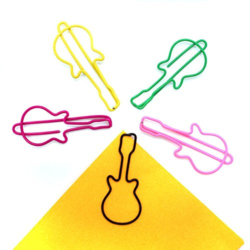 Metal Paper Clips Guitar Shaped