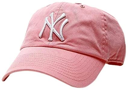 769b4e02f9df90 Buy MLB New York Yankees Women's '47 Brand Clean Up Cap, Rose Online at Low  Prices in India - Amazon.in