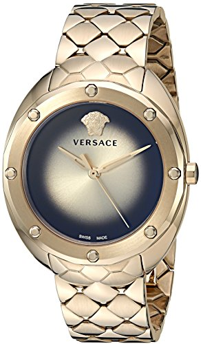 Versace Women's 'SHADOV' Quartz Tone and Gold Plated Watch(Model: VEBM00618)