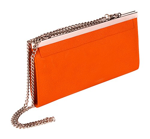 Cadena cartera de cuero embrague Fashion por farfalla naranja