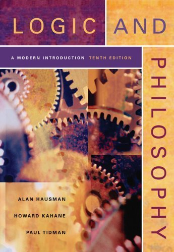 Logic and Philosophy: A Modern Introduction by Hausman Alan Kahane Howard Tidman Paul (2012-01-01) Paperback