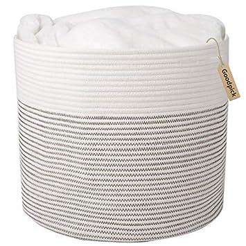 Amazon.com: Goodpick – Cesta de cuerda de algodón natural ...