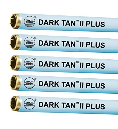 Wolff Dark Tan II Plus F71 100W Bi Pin Tanning Lamp (24) by Wolff Systems Dark Tan Tanning Bed Bulbs