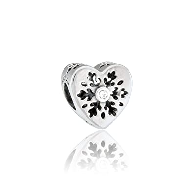 cf5f38e8a Pandora 796359CZ Snowflake Heart Charm: Amazon.co.uk: Jewellery