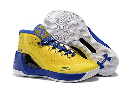 Price comparison product image Stephen Curry 3 Basketball Shoes Yellow Blue Online