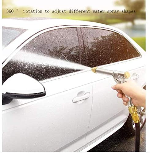 Sturdy Garden Hose, Flexible Hosepipe, Household High-Pressure Alloy Spray Gun Magic Pressure Telescopic Water Pipe for Watering Plants Cleaning