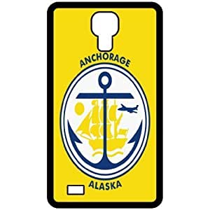 Anchorage Alaska AK City State Flag Black For Case Samsung Note 3 Cover Cell Phone
