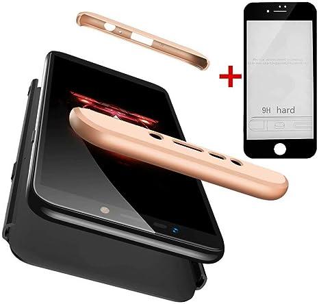 Coque Pour iPhone 7 Protection Intégrale 360° Housse Etui Matte Noir