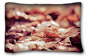 "Custom Cotton & Polyester Soft Nature Pillow Covers Bedding Accessories Size 20""X30"" suitable for Queen-bed"