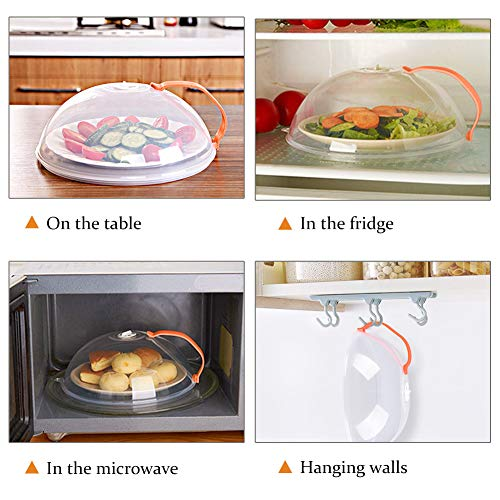 Microwave Plate Cover, Anti-Splatter Plate Lid with Steam Vents & Handle Microwave Food Cover, Food-Grade PP Material BPA-Free 2 Pack by Homich (Image #7)
