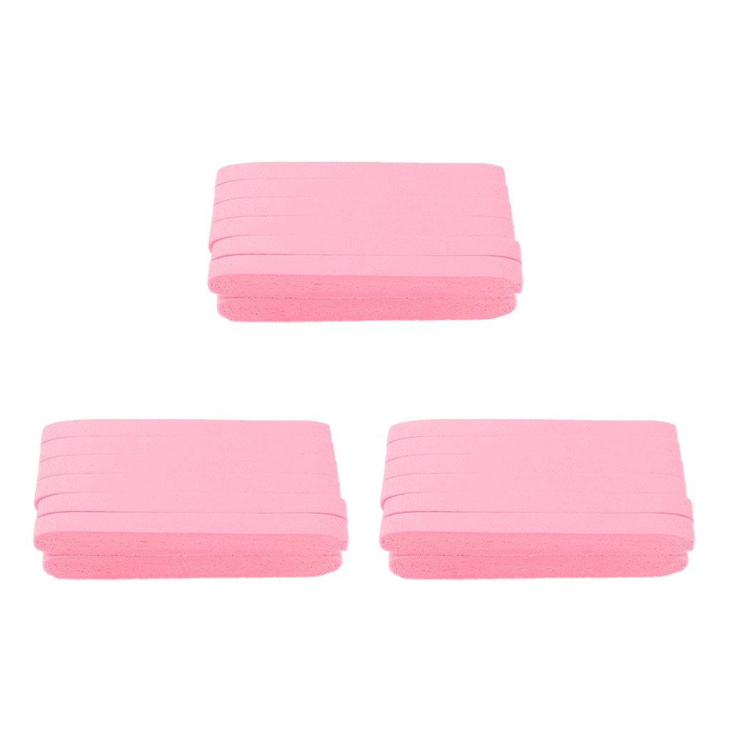 Homyl Confezioni Spugnette Soffio Pulizia Viso Rimozione Accessorio Trucco Professionale - Rosa, 8.3 x 1.1 x 1.1 cm
