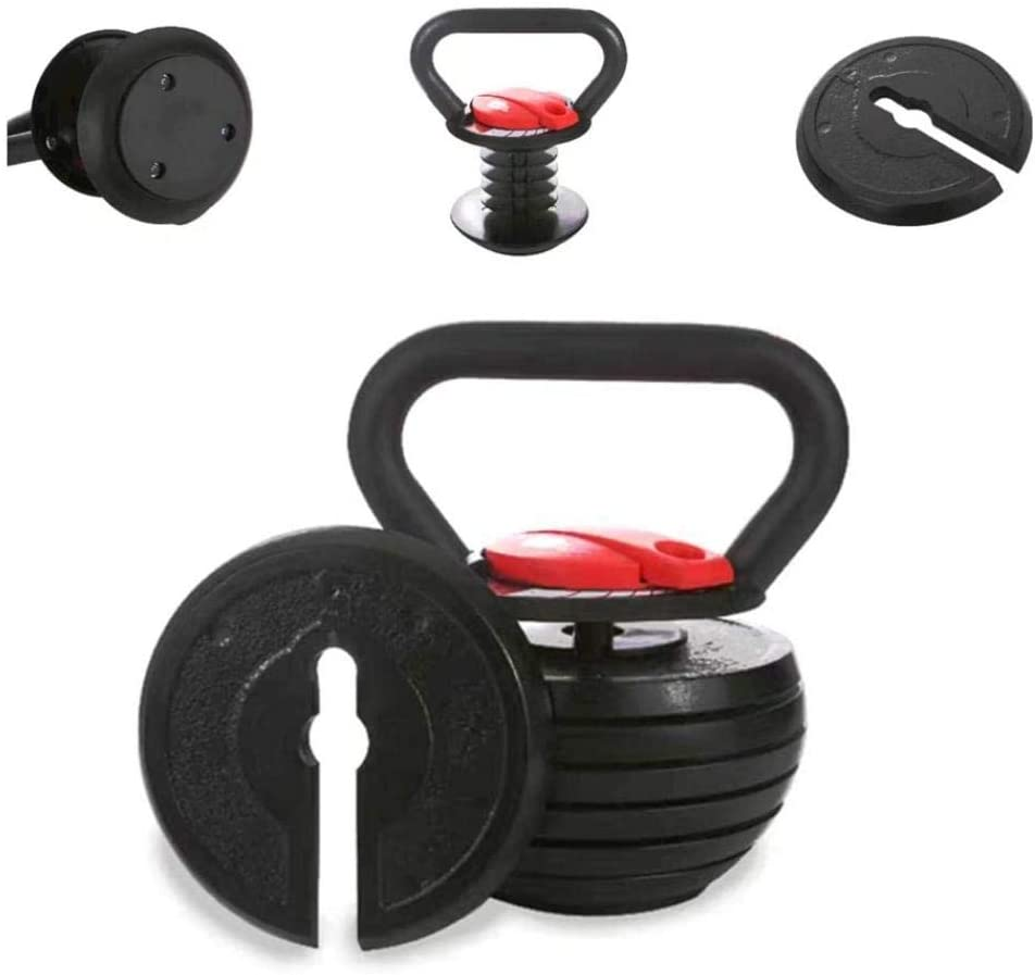 Adjustable Weights Detachable Kettlebell Free Weights Set Ladies Keep Balance Great for Men Women Full-Body Home Gym Fitness Exercise Workout Strength Training HUZONG Solid Cast Iron Kettlebell