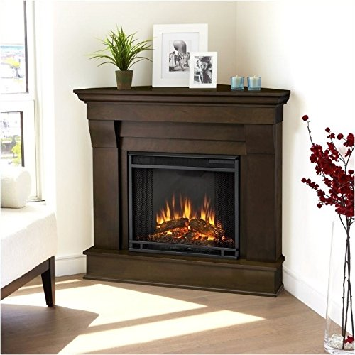 Espresso Electric Fireplace Package - 4